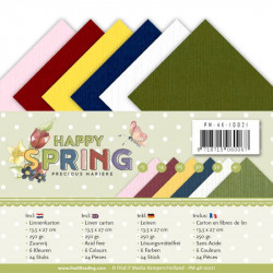 Set 24 cartes Happy spring 13.5x27cm