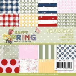 Bloc de papier - precious marieke - Happy spring 15.2 x 15.2 cm