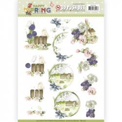 Carte 3D prédéc. - Yvonne Creations- Happy Spring - A la ferme - SB10328