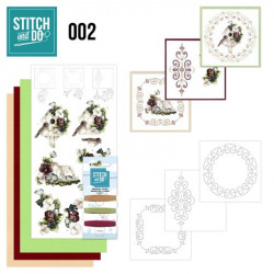 Stitch and do 002 - kit Carte 3D broderie - fMaisons d'oiseaux