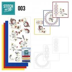 Stitch and do 003 - kit Carte 3D broderie - Hiver