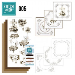 Stitch and do 005 - kit Carte 3D broderie - Condoléance