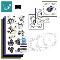 Stitch and do 006 - kit Carte 3D broderie - Violettes