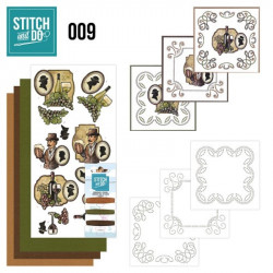 Stitch and do 009 - kit Carte 3D broderie - Vin et bière