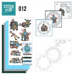 Stitch and do 012 - kit Carte 3D broderie - Fête des pères