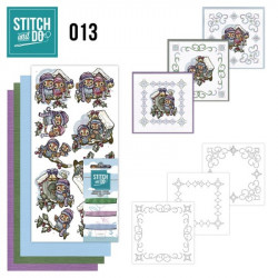 Stitch and do 013 - kit Carte 3D broderie - Maison d'oiseaux