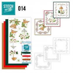 Stitch and do 014 - kit Carte 3D broderie - Noël classique