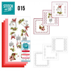 Stitch and do 015 - kit Carte 3D broderie - Bougies