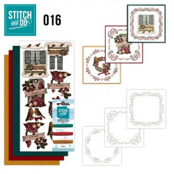 Stitch and do 016 - kit Carte 3D broderie - Brocante de noël