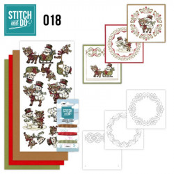 Stitch and do 018 - kit Carte 3D broderie - Bonhomme de neige