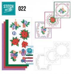 Stitch and do 22 - kit Carte 3D broderie -  Noël