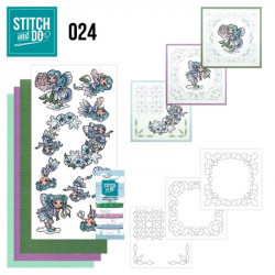 Stitch and do 24 - kit Carte 3D broderie - Fées
