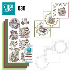 Stitch and do 30 - kit Carte 3D broderie - Célébrations