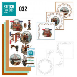 Stitch and do 32 - kit Carte 3D broderie - Hollande vintage