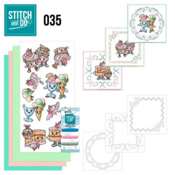 Stitch and do 35 - kit Carte 3D broderie - Gateaux