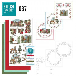 Stitch and do 37 - kit Carte 3D broderie - Décorations de noël