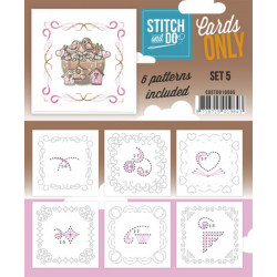 Cartes seules Stitch and do  - Set n°5