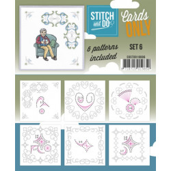 Cartes seules Stitch and do  - Set n°6
