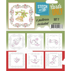 Cartes seules Stitch and do  - Set n°7