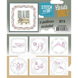 Cartes seules Stitch and do  - Set n°8