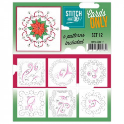 Cartes seules Stitch and do  - Set n°12