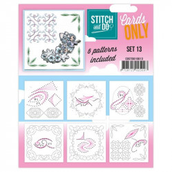 Cartes seules Stitch and do  - Set n°13