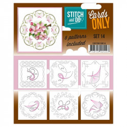 Cartes seules Stitch and do  - Set n°14