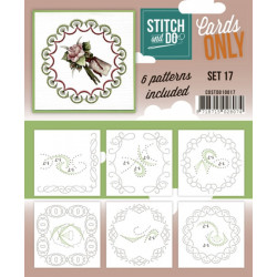 Cartes seules Stitch and do  - Set n°17