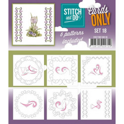 Cartes seules Stitch and do  - Set n°18