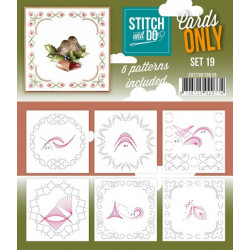 Cartes seules Stitch and do  - Set n°19