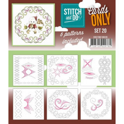 Cartes seules Stitch and do  - Set n°20