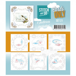 Cartes seules Stitch and do  - Set n°21