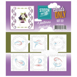 Cartes seules Stitch and do  - Set n°22