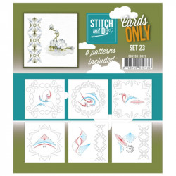 Cartes seules Stitch and do  - Set n°23