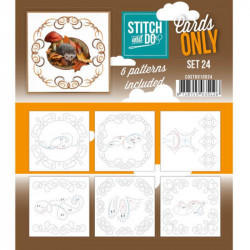 Cartes seules Stitch and do  - Set n°24