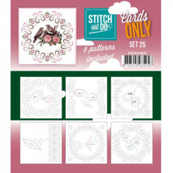 Cartes seules Stitch and do  - Set n°25