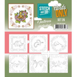 Cartes seules Stitch and do  - Set n°26