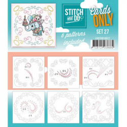 Cartes seules Stitch and do  - Set n°27