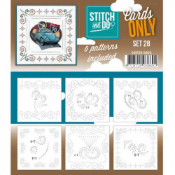 Cartes seules Stitch and do  - Set n°28