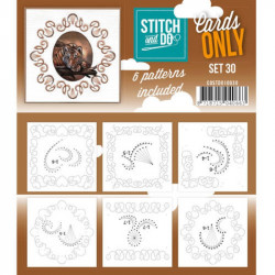 Cartes seules Stitch and do  - Set n°30