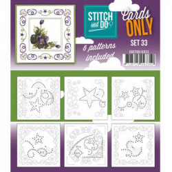 Cartes seules Stitch and do  - Set n°33