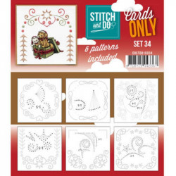 Cartes seules Stitch and do  - Set n°34