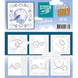 Cartes seules Stitch and do  - Set n°35