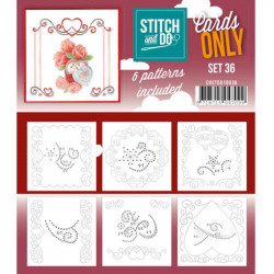 Cartes seules Stitch and do  - Set n°36