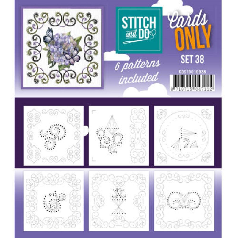 Cartes seules Stitch and do  - Set n°38