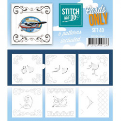 Cartes seules Stitch and do - Set n°40