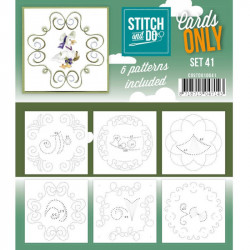 Cartes seules Stitch and do  - Set n°41