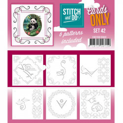 Cartes seules Stitch and do  - Set n°42