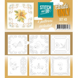 Cartes seules Stitch and do - Set n°43
