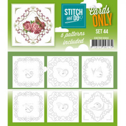 Cartes seules Stitch and do  - Set n°44